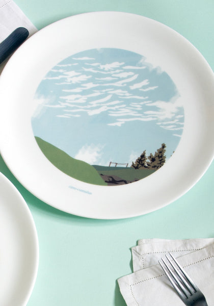Cirro Cumulus Clouds Dinner Plate - Snowden Flood
