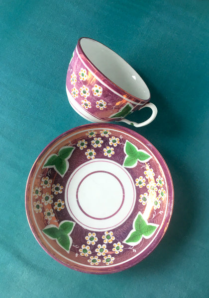 Hand painted 18th century cup and saucer www.snowdenflood.com