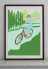 Cycling Lady Print (various sizes)