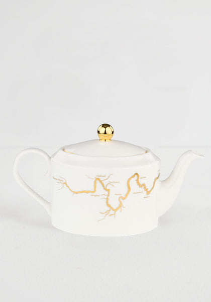 River Thames Teapot in Gold