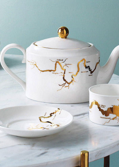 River Thames Tea set in Gold