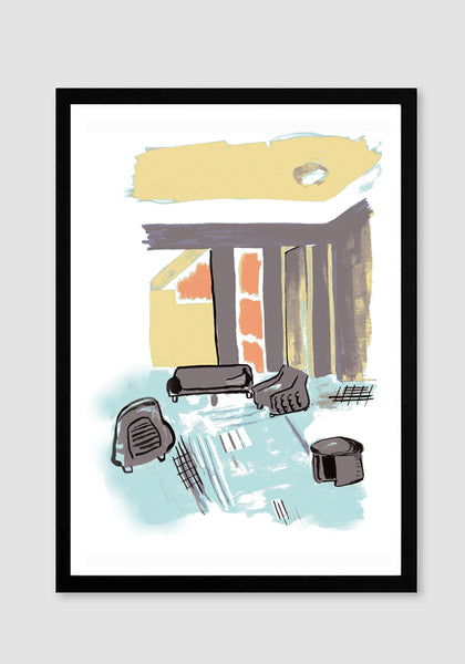 'Hollywood Hills' -  Art Print