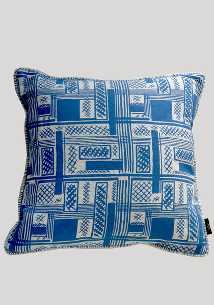 Ira/Agnes Blue Linen Cushion