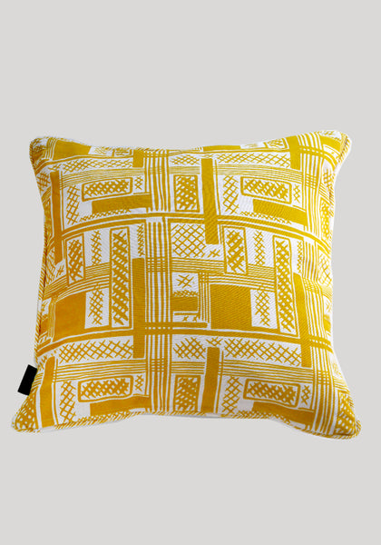 Bessie/Ira Yellow Linen Cushion