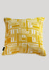 Snowden Flood Bessie/Ira Yellow Textile on Linen Cushion www.snowdenflood.com