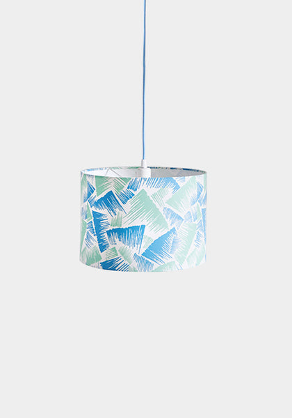 Ira Mint/Blue Lampshade - Snowden Flood Shop - www.snowdenflood.com