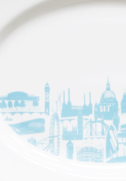 London Landmark Serving Platter - Snowden Flood