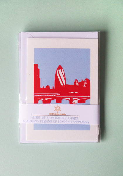 A Set of 5 London Landmarks Cards - Snowden Flood Shop - www.snowdenflood.com
