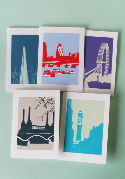 A Set of 5 London Landmarks Cards