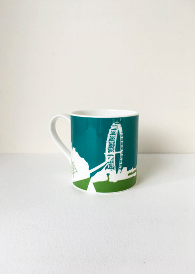 Large and colourful London Eye Mug