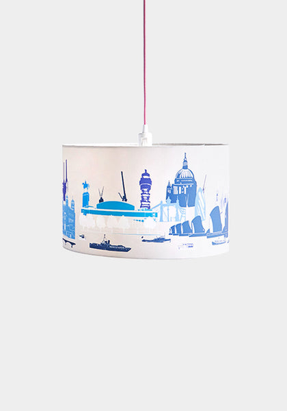 London Landmarks Lampshade in natural/blue