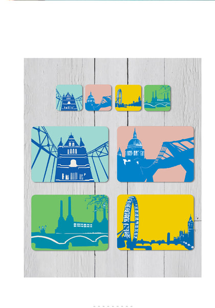 Snowden Flood London landmark tablemats and coasters www.snowdenflood.com