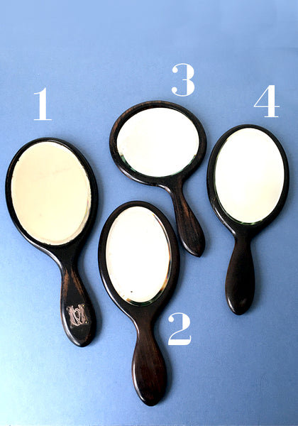 Edwardian Ebony hand-mirrors