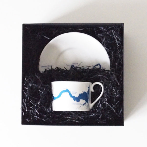 Snowden Flood Thames cups & saucer in Blue
