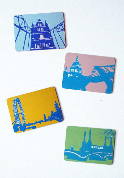 A set of four London Landmark Place Mats