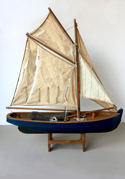 The Prawner, a 1940/50s handmade sailing boat