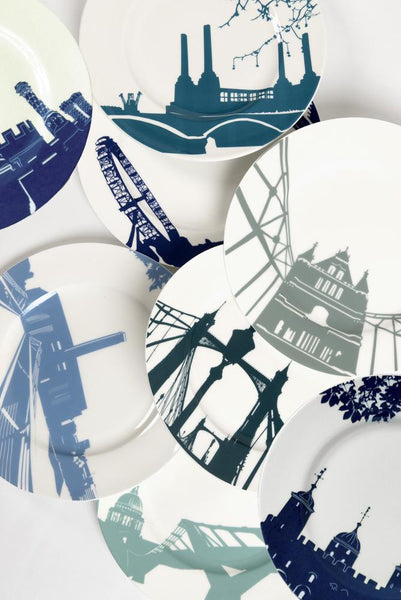 Snowden Flood River Series London Landmark Dinner Plate Set of 8 www.snowdenflood.com