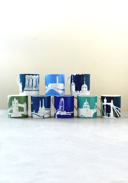 Set of eight River Series mugs