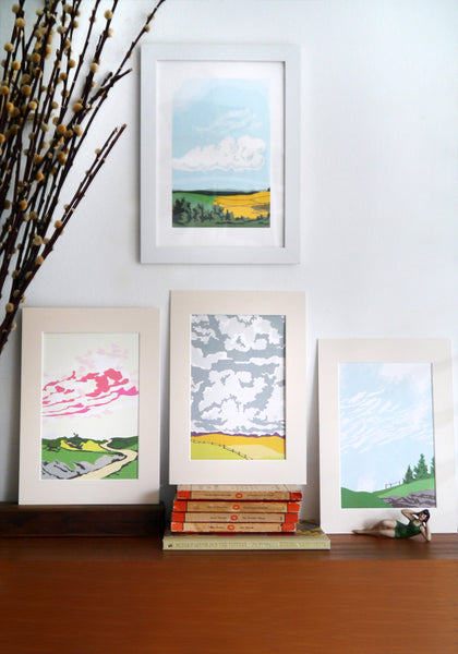 Set of Four Cloud Prints
