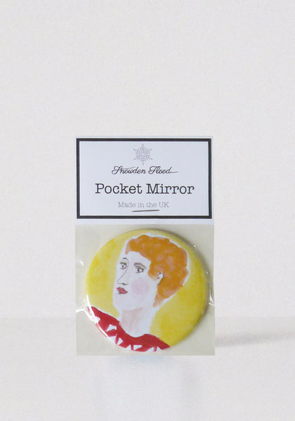 Lettice, painted Lady pocket mirror www.snowdenflood.com