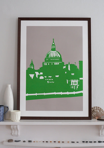 Snowden Flood St Paul's Cathedral A1 Art Print www.snowdenflood.com