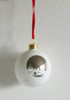 A set of 6 Bone China London Landmark baubles
