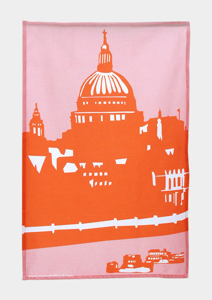 St Paul's Riverside Tea Towel - Snowden Flood Oxo Tower Shop - www.snowdenflood.com