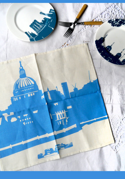 St.Pauls Cathedral - blue & white Napkin 'second'