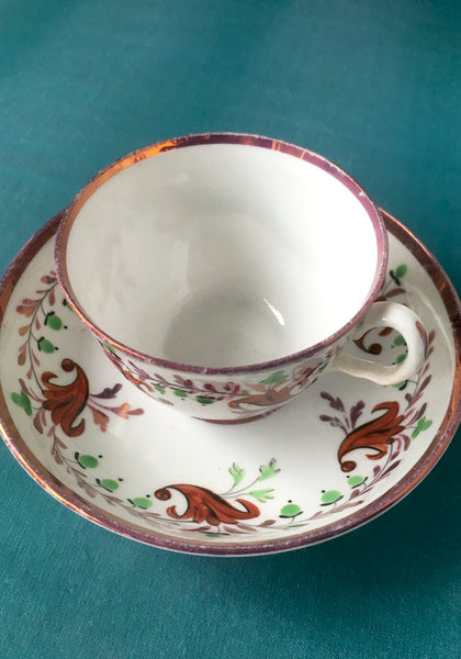 Colourful & elegant 18th century cup & saucer