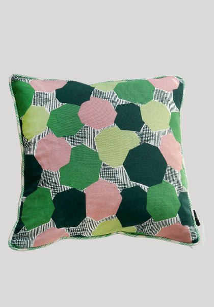 Valmier/Augie Green Linen Cushion