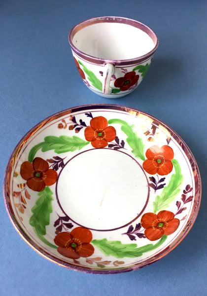 18th Century antique British cup and saucer Snowden Flood www.snowdenflood.com
