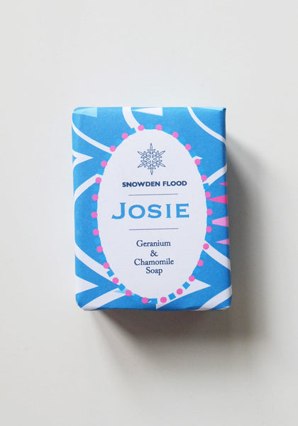 Josie Geranium and Lavender soap - Snowden Flood Oxo Tower Shop - www.snowdenflood.com