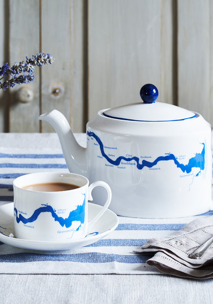 Thames Tea set in Blue