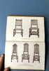 A set of four antique books about furniture