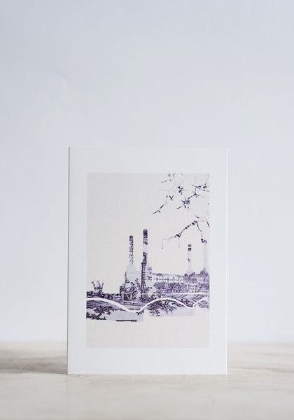 Battersea Toile Greeting Card