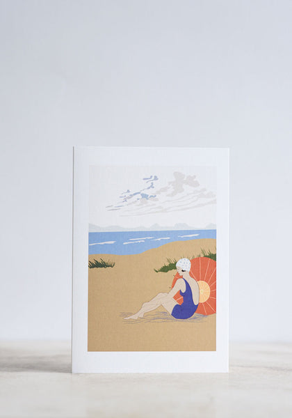 Beach Lady Greeting Card