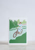 Cycling Lady Greeting Card - Snowden Flood Shop