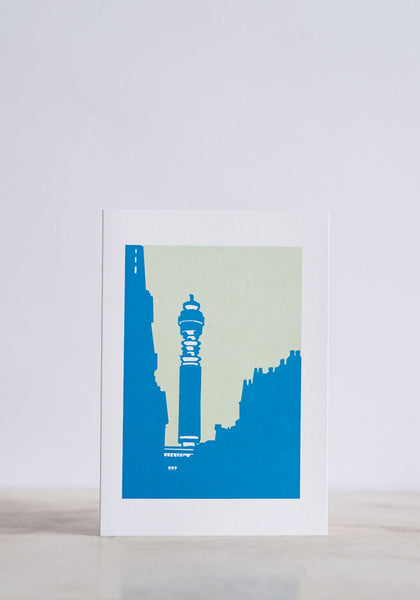 Post Office Tower Greeting Card - Snowden Flood Shop