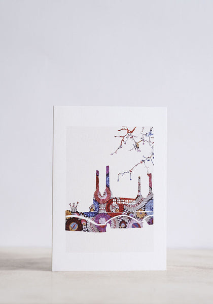 Battersea Embroidery Greeting Card