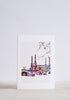 Battersea Embroidery Greeting Card - Snowden flood shop
