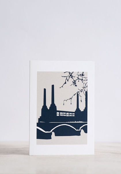 Battersea Power Station Greeting Card - Snowden Flood shop