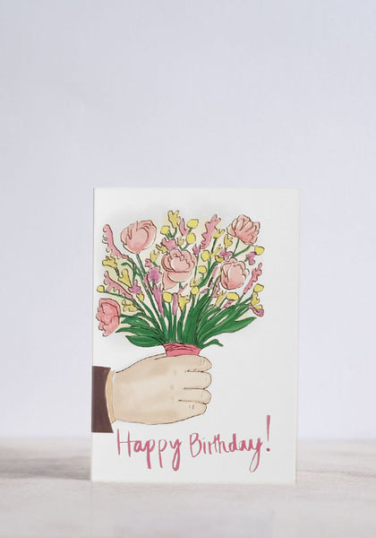 Birthday Flower Bunch Greeting Card