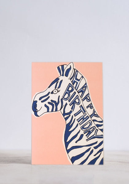 Birthday Zebra Greeting Card