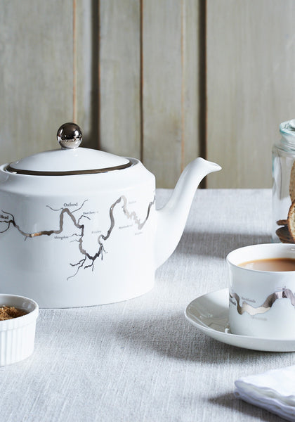 Thames tea set in platinum - Snowden Flood