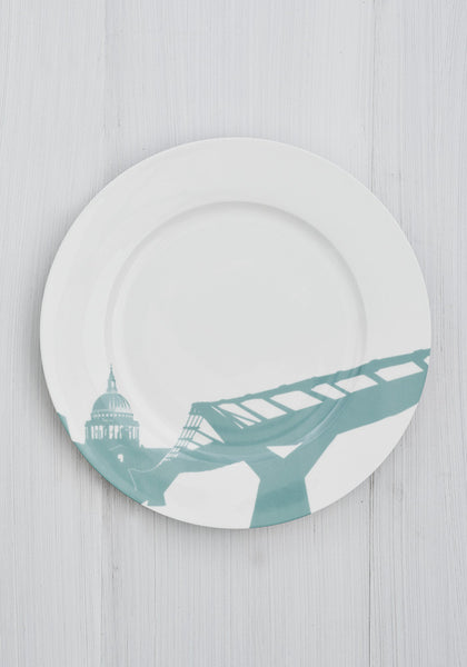 St Pauls /Millennium Bridge Dinner Plate - Snowden Flood Shop
