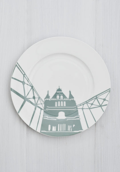 Snowden Flood River Series London Landmark Tower Bridge Dinner Plate www.snowdenflood.com