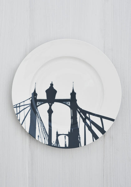 Albert Bridge Dinner Plate - Snowden Flood www.snowdenflood.com