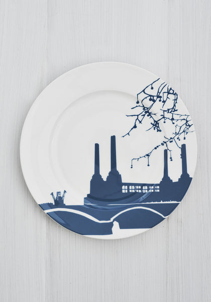 Snowden Flood River Series London Landmark Battersea Power Station Dinner Plate www.snowdenflood.com