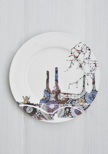 Battersea Embroidery Dinner Plate - Snowden Flood shop