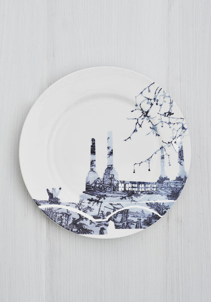 Battersea Power Station Toile Dinner Plate